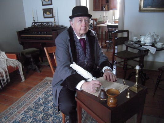 Mr. James Fuller Friend of Charles Dickens who will be speaking at the Lectu.JPG