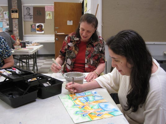 Kay Kuhn and daughter Amy Ting have been painting together at the Senior Cen.JPG