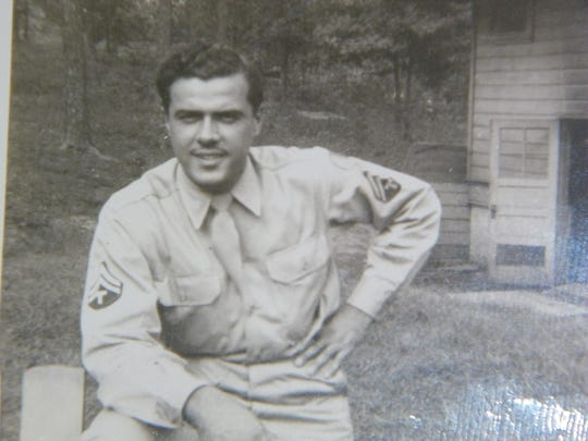 Dale Shimer, as he looked during World War II. He spent his service time as part of the U.S. Army Band.
