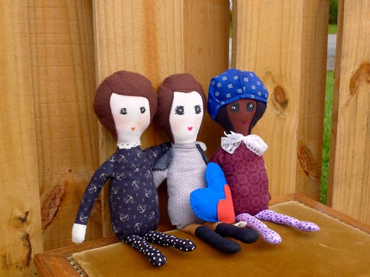 The Summer 2015 collection of Joan and Her Rad Friends by Rosa Leon Riley features war heroine Joan of Arc, Reserve Naval Yeomanette Loretta Perfectus Walsh and humanitarian Harriet Tubman. A launch party for the dolls is Aug. 21.