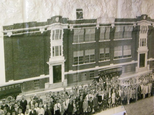 This photo of the old Woodmore Elementary School is