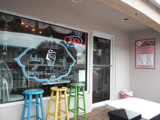 At Janie's Sweet Delights, pastries and scones go well with their delicious coffee.