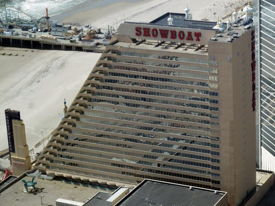 This March 7, 2012 photo shows the Showboat casino in Atlantic City, N.J. It closed in August 2014, one of four Atlantic City casinos to do so. But on Friday June 3, 2016, new owner Bart Blatstein said he will reopen the Showboat in July as a non-gambling hotel. (AP Photo/Wayne Parry)
