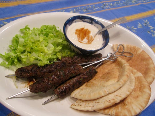 A kofta is heavily spiced ground meat — usually lamb