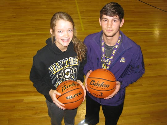 Callie Maddox (left) and her brother Brennan each have won LHSAA titles at Fairview and are competive on and off the court.