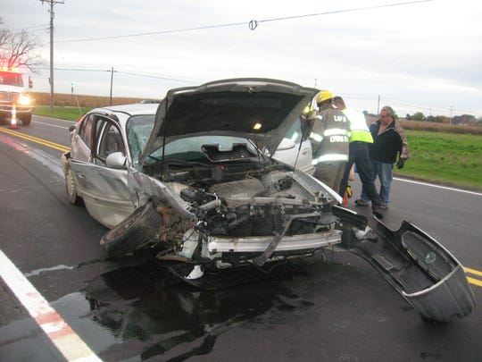 This 2002 Buick LeSabre was involved in a two-vehicle