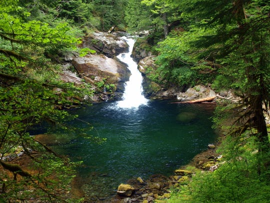 Siouxon Creek Falls is the highlight of a hike in Southwest Washington.
