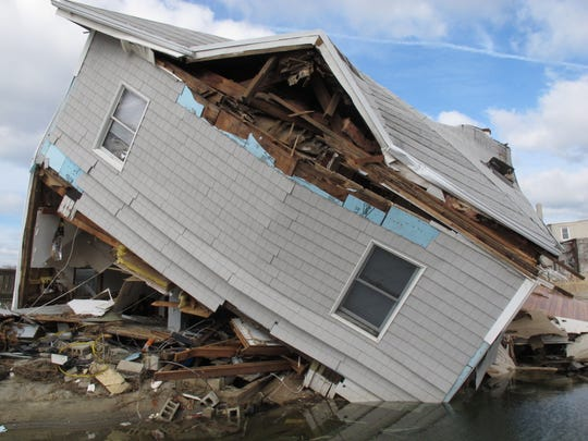 A house in Sea Bright that was destroyed by Superstorm Sandy.