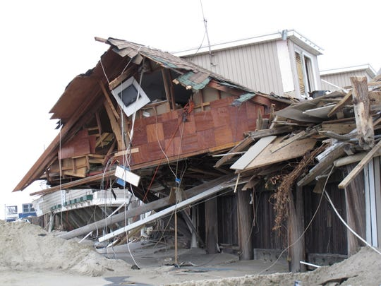 An oceanfront beach club in Sea Bright that was ruined by Superstorm Sandy.