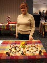 Sharon Sager poses with her Diabetic Appetizer Mushrooms