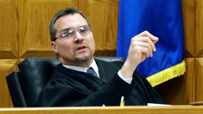 Outagamie County Judge Greg Gill presides over a trial in March 2016. Gill recently announced his candidacy for the Third District Court of Appeals.