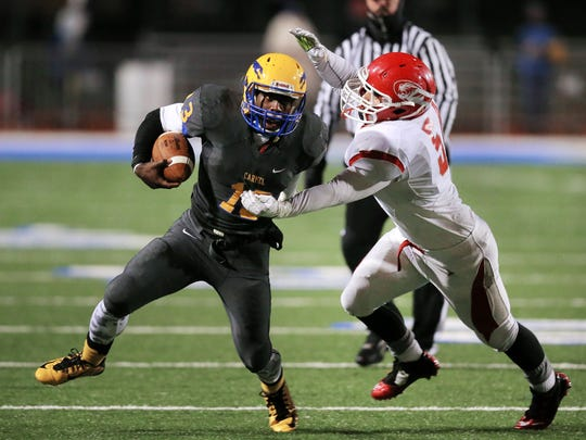 Carmel's Isaac James was a do-everything type player for the Greyhounds.