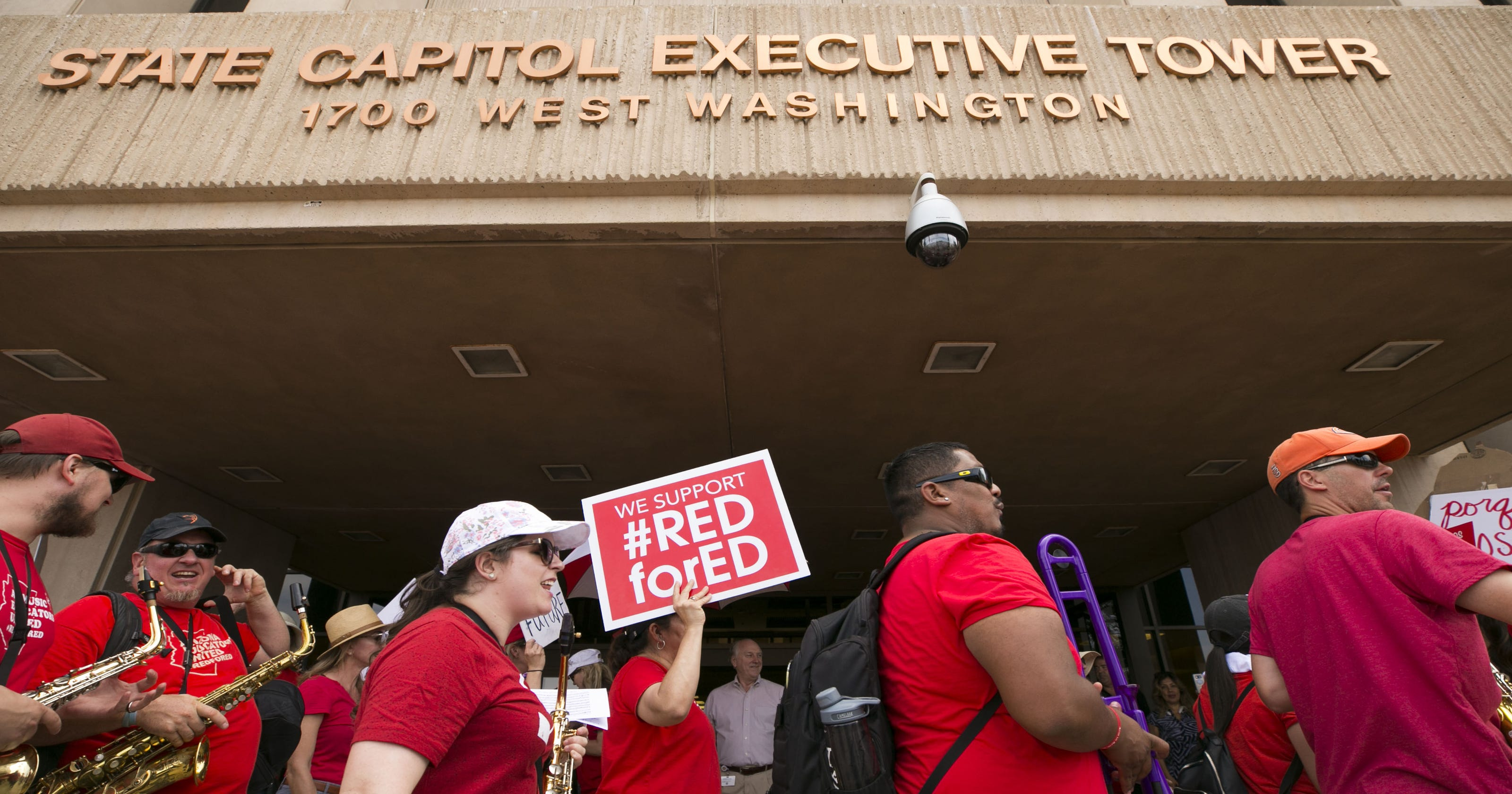 12a39478 Arizona teacher strike: Day 3 of #RedForEd walkout at state Capitol