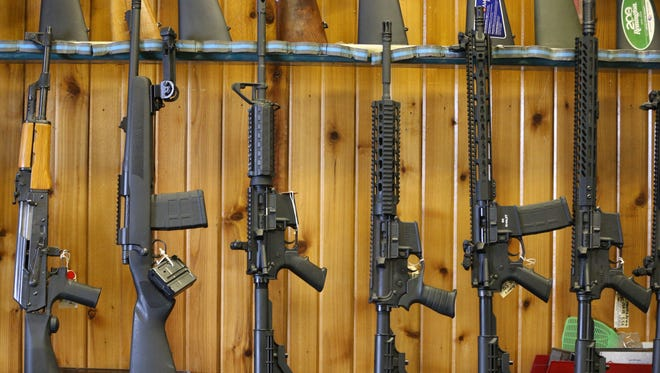 Winchester city council on Monday said the city's police department should hold on to five AR-15s it has in surplus. The guns shown here are not the specific guns owned by the department, but are of the same style.
