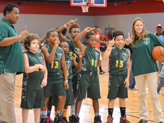 The Citrus Elementary School basketball team won gold at the Special Olympics state basketball championships last year.