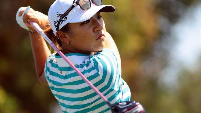 Teenage phenom Lydia Ko hits her tee shot on the third hole while playing in the ANA Inspiration pro-am on Wednesday, April 1, 2015 at Mission Hills Country Club in Rancho Mirage, Calif. Ko has been the number one ranked women's golfer for the past nine weeks and has recorded each of her last 28 rounds on the LPGA tour all under par.