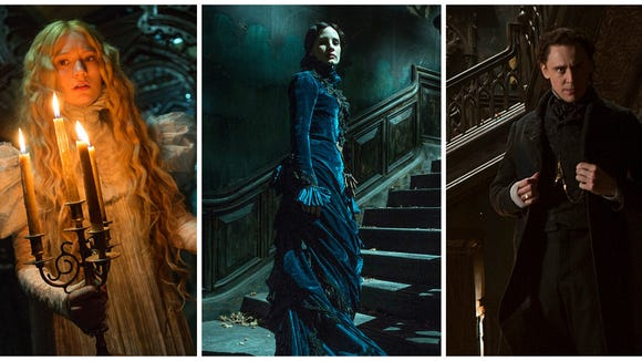 The lace, puffy sleeves and ruffs of the 'Crimson Peak'