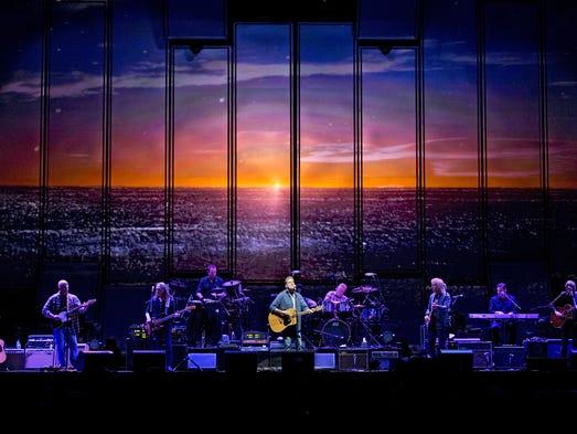 Veteran rockers the Eagles performed at U.S. Bank Arena.