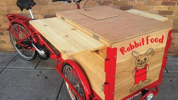 Rabbit Food Bike would offer healthy, plant based food items to folks on the Swamp Rabbit Trail.