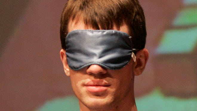 The idea for the study came from researchers who felt they could see their hands through an opaque blindfold.
