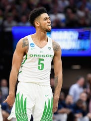 Tyler Dorsey came up clutch for Oregon against Rhode