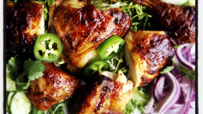 Sweet and sour roasted chicken prepared in the Detroit Free Press Test Kitchen.