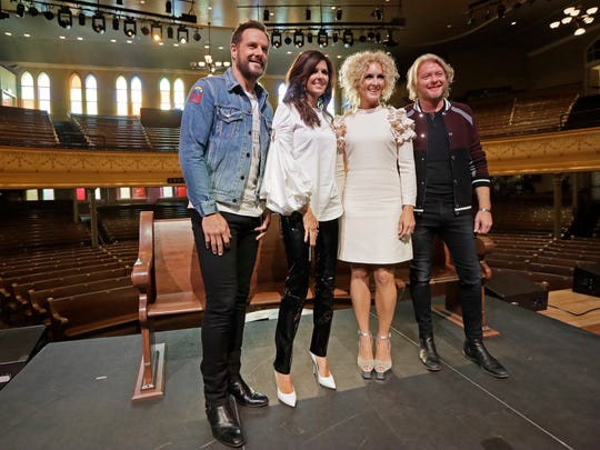 Little Big Town on stage at Ryman Auditorium.