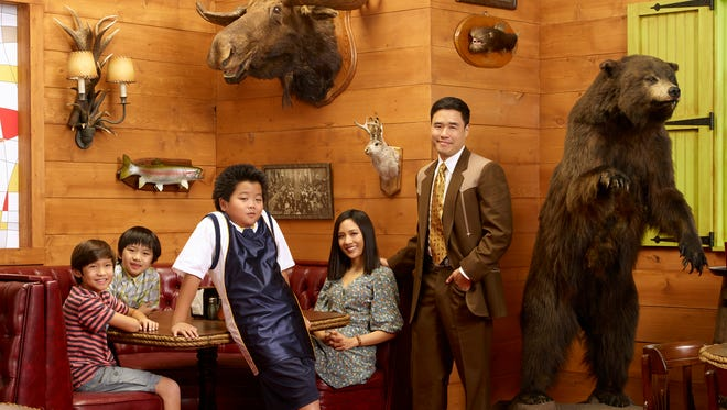 """Hudson Yang, center, plays Eddie Huang in ABC's """"Fresh Off the Boat."""""""