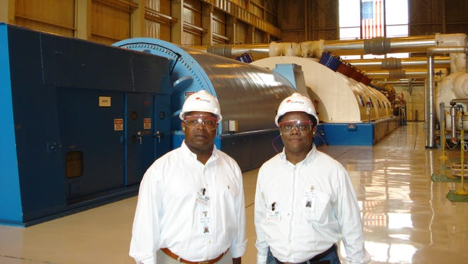 Norris McDonald, right, is pictured alongside Frank Fraley, president of Safe, Healthy, Affordable Reliable Energy (SHARE) during a visit to Indian Point Energy Center in Buchanan. McDonald has toured a dozen nuclear power plants all over the world.