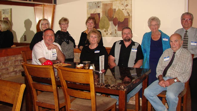 Ten new members were accepted into the membership of the Mountain Home Elks Lodge on March 27. President and Exalted Ruler Cathy Schweer conducted Rite of Initiation Ceremonies as the members observed. Initiated were: (from left) Nancy Cooper, Randy Swearingen, Annie Janota, Judy Dolan, Rachel McDonald, David Bigos, Charlotte Nelson, Donald Ward and Frank Folino  Not pictured: Caroline Kressin. The Elks are one of the largest Fraternal organizations in the U.S. with over one million members in some 2,000 Lodges throughout the country. The Mountain Home Lodge, located next to the Twin Lakes Golf Club, serves Baxter and surrounding counties with a full-service dining room, beverage service, game room and meeting hall. For more information call 425-3266.