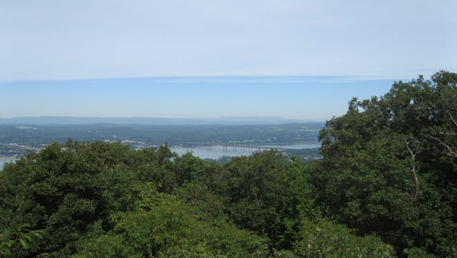 Views of the vistas from the hiking trails in the Hudson Highlands.