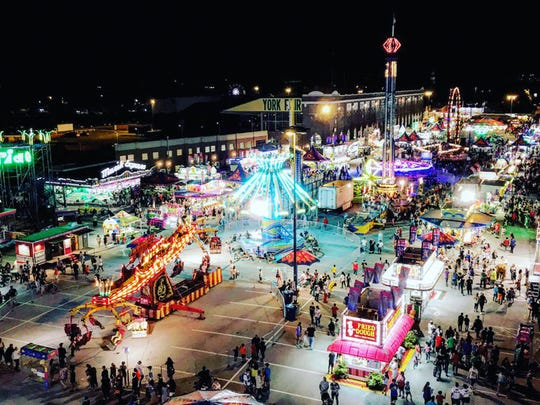 Laiken Kopp, of Red Lion, submitted this photo taken Sept. 9 at the York Fair. The fair's many attractions can be seen from the top of this Ferris wheel.