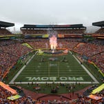 January 26, 2014; Honolulu, HI, USA; General view of the Pro Bowl most valuable player trophy during the 2014 Pro Bowl at Aloha Stadium.