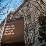 The Internal Revenue Service Headquarters headquarters in  Washington. Thieves used an online service provided by the IRS to gain access to information from more than 100,000 taxpayers, the agency said Tuesday.