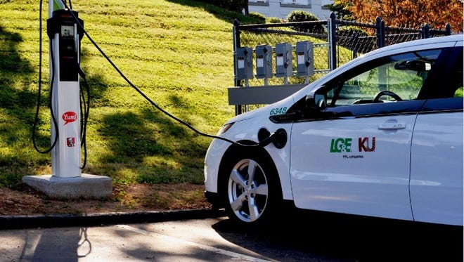 YUM! Brands partnered with its local gas and electric utility to host an electric vehicle charging station at its Louisville campus for YUM! employees. Employees who own EVs can charge their vehicles for free.
