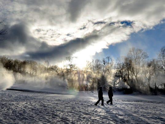 Making snow at Roundtop
