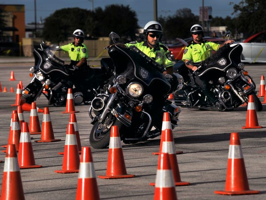 Abilene Police Department motorcycle officers Brian