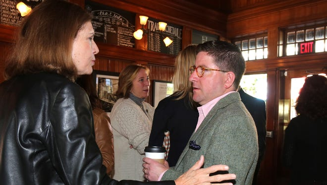 The Journal News/lohud.com Editorial Board hosted a coffee chat with the local community at the Chappaqua Station Farm to Town shop, Oct. 16, 2015.
