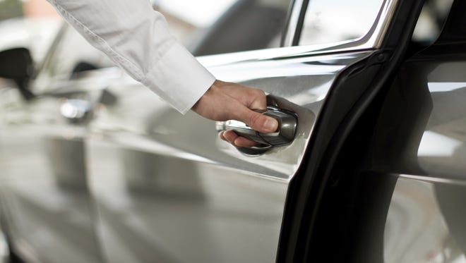 Stock photo: Opening Luxury Car Door