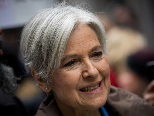 Green Party presidential candidate Jill Stein waits