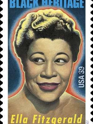 This image provided by the U.S. Postal Service shows a postage stamp honoring Ella Fitzgerald, the First Lady of Song.