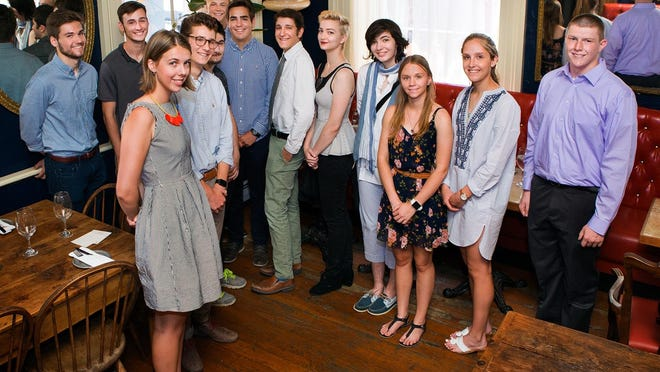 Students who recently received awards from the Rhinebeck Community Scholarship Fund.