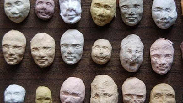 Kelsey Pike's sprouting seed faces are among the items