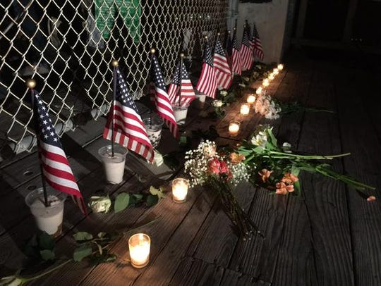 A candlelight vigil was held at the beach Wednesday