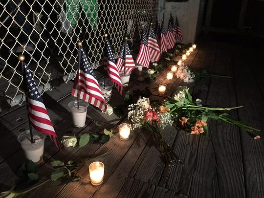 A candlelight vigil was held at the beach Wednesday night.
