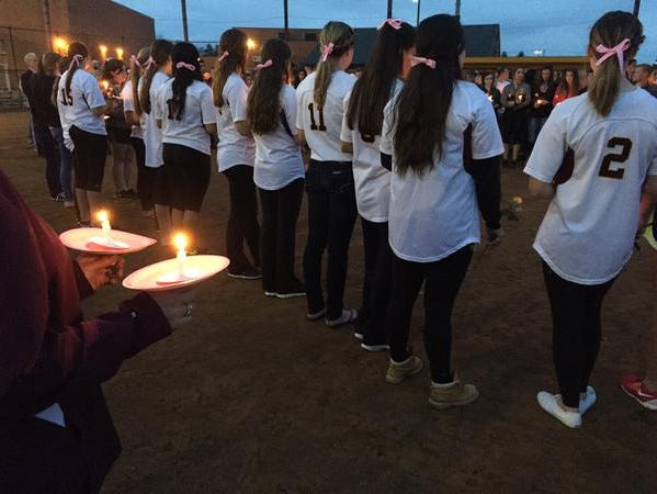 Hundreds gathered for a vigil for Madison Small on Tuesday.