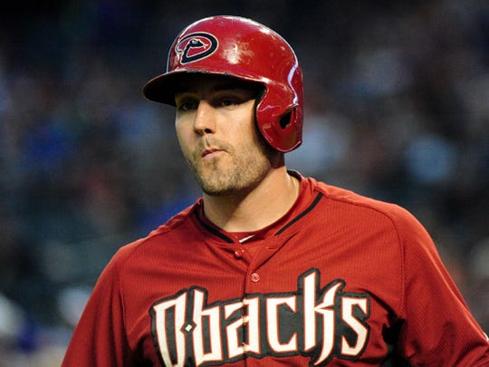 ; Arizona Diamondbacks center fielder A.J. Pollock (11) looks on during the game against the Chicago Cubs at Chase Field.
