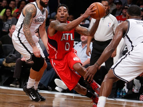 In his sixth trip to the playoffs, Pike product Jeff Teague has had some shooting struggles.