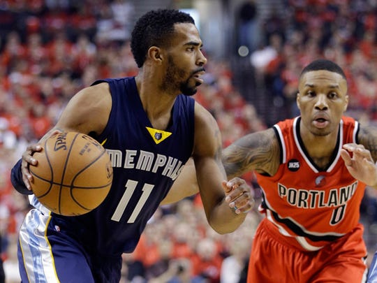 Mike Conley was playing well for the Grizzlies against Portland, but after facial surgery, it's unknown when he'll be back on the court.