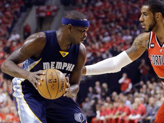 Zach Randolph has scored in double figures in each of Memphis' three wins against Portland.